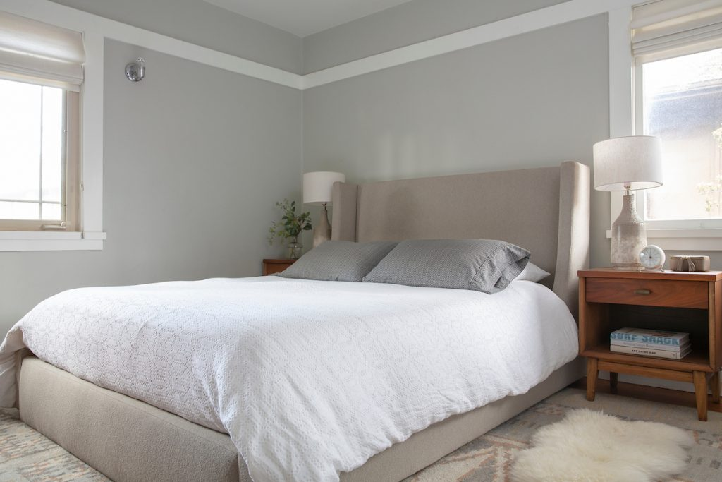 The goal for this bed styling is to keep it simple, but create a bed that feels more cozy, layered, and pulled together.