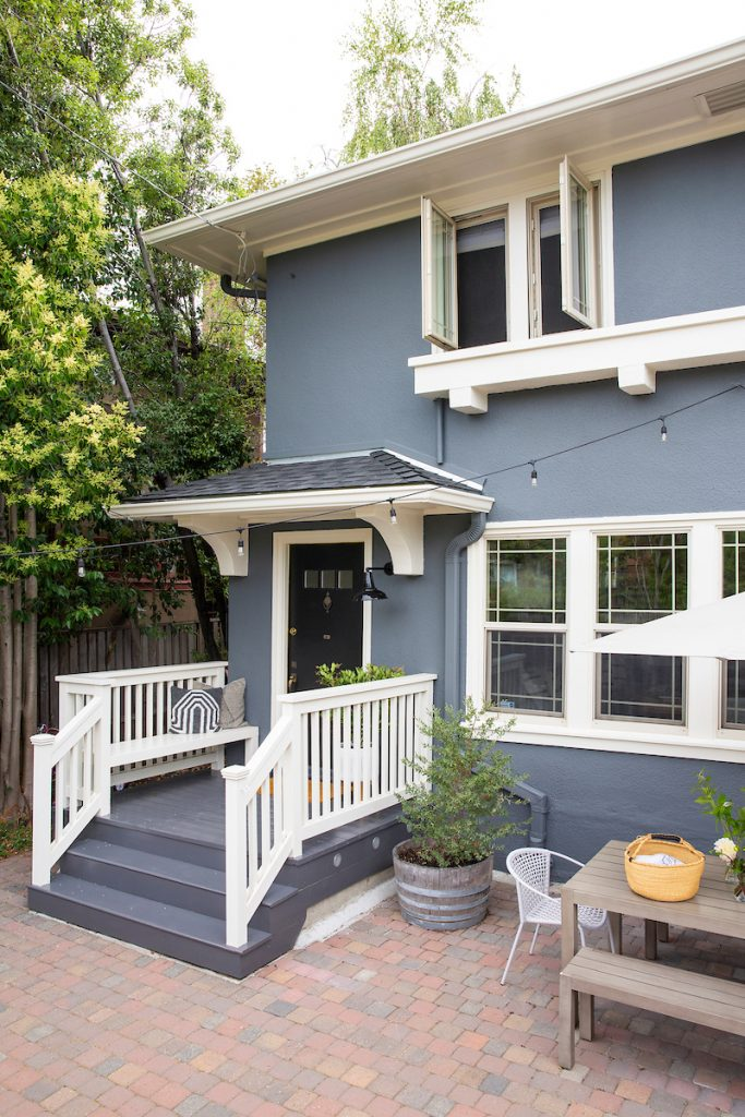 Exterior paint before and after reveal by Shira Gill Home