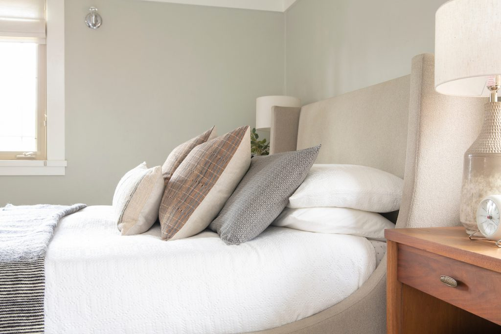 Add more pillows and employ the power of layering for your bed!