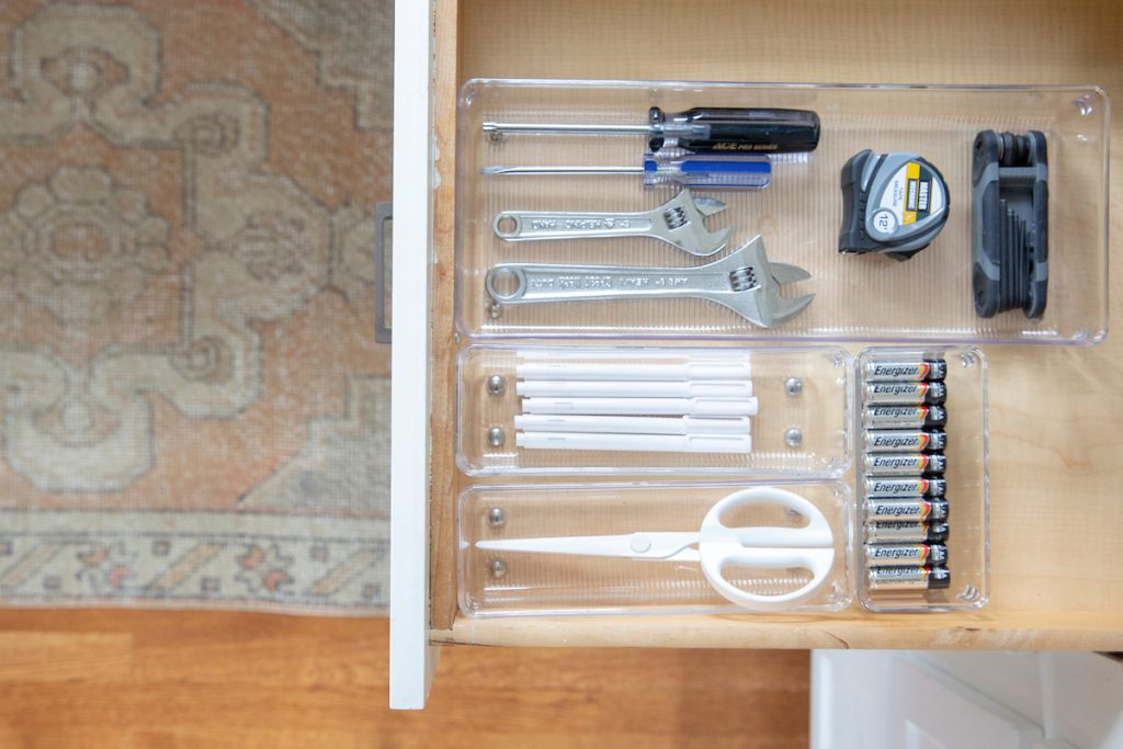 The final step is to style! Use drawer dividers to organize your contents.