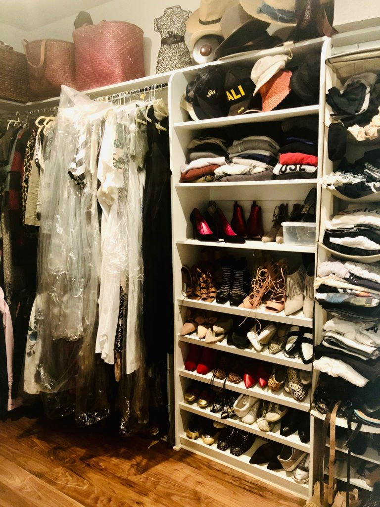 Another angle of Tanya Monaghan's closet before she completed the Virtual Closet Makeover Program.