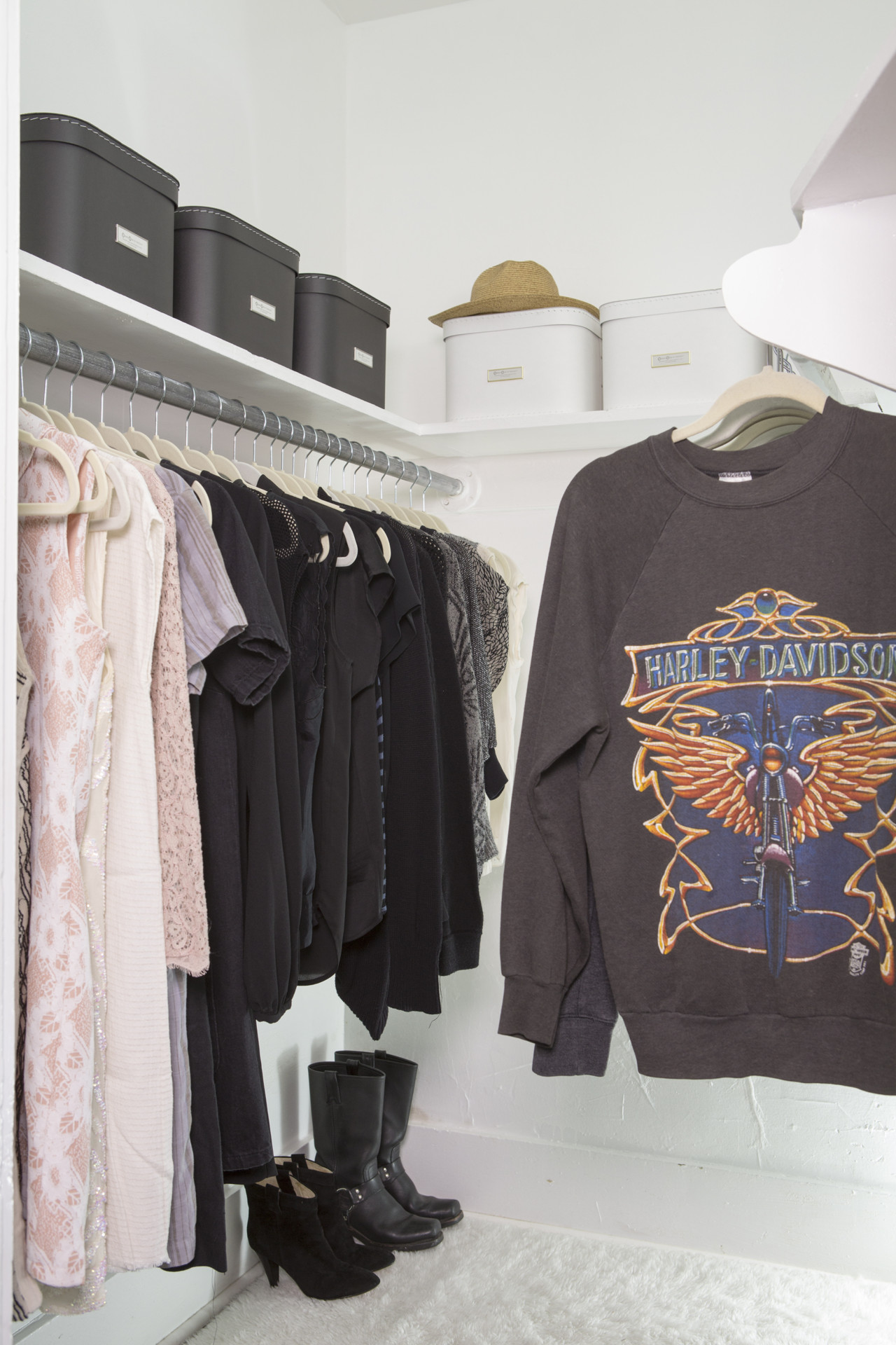 Organize your closet with storage boxes and more. Check it out!