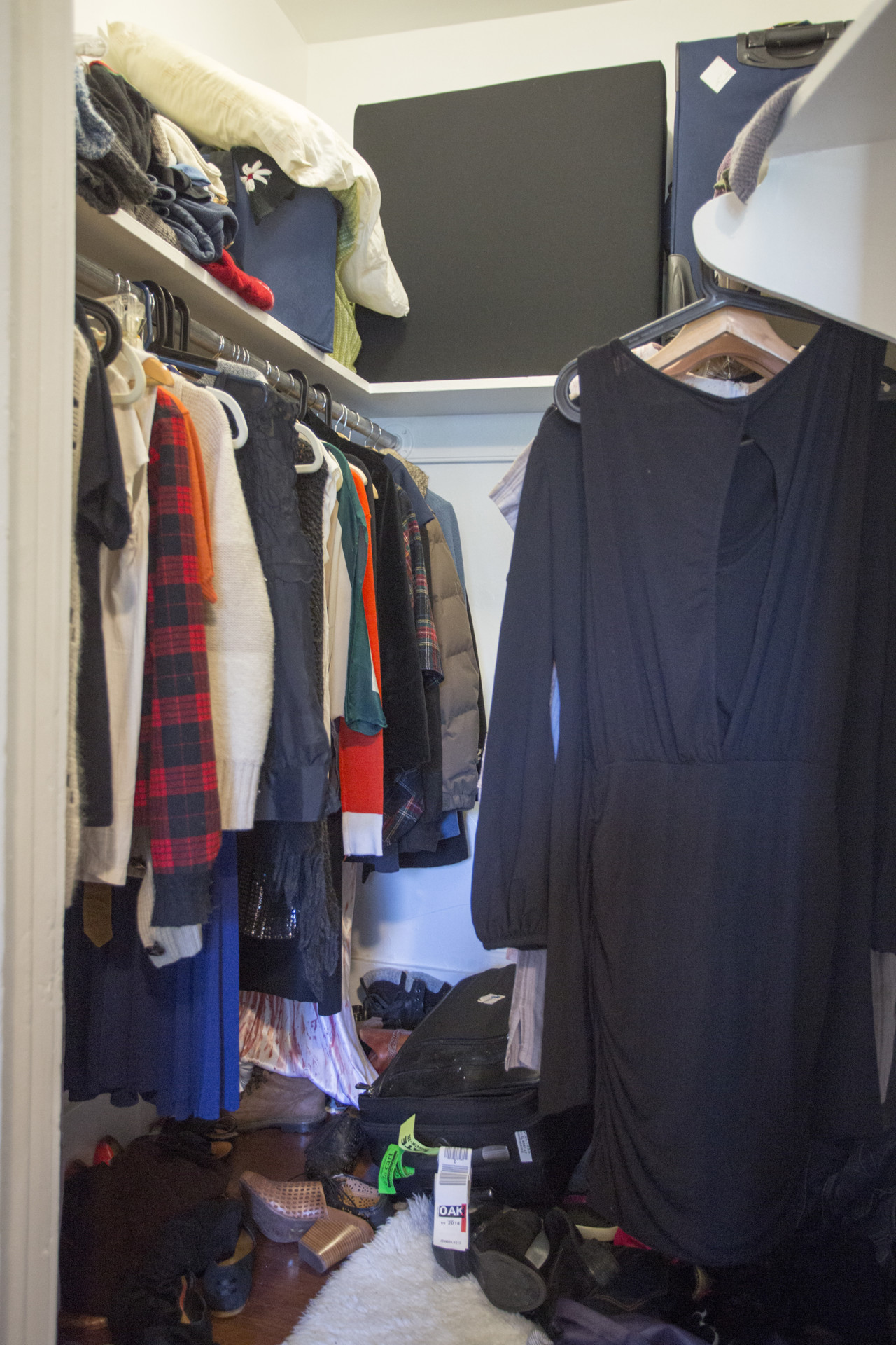 Does your closet look like this? Organize it with my simple steps!