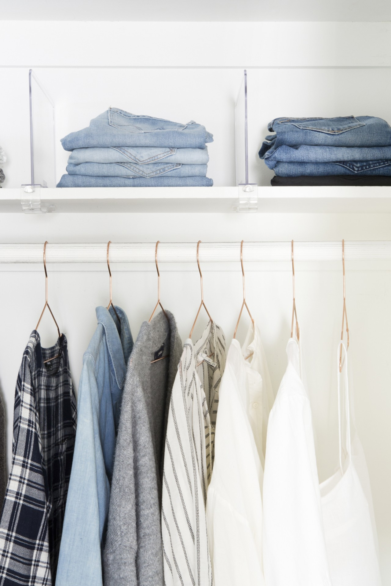 Stylish organized closet makover