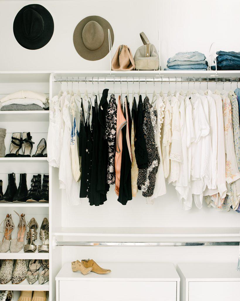 Tanya's closet after taking the Virtual Closet Makeover Program.
