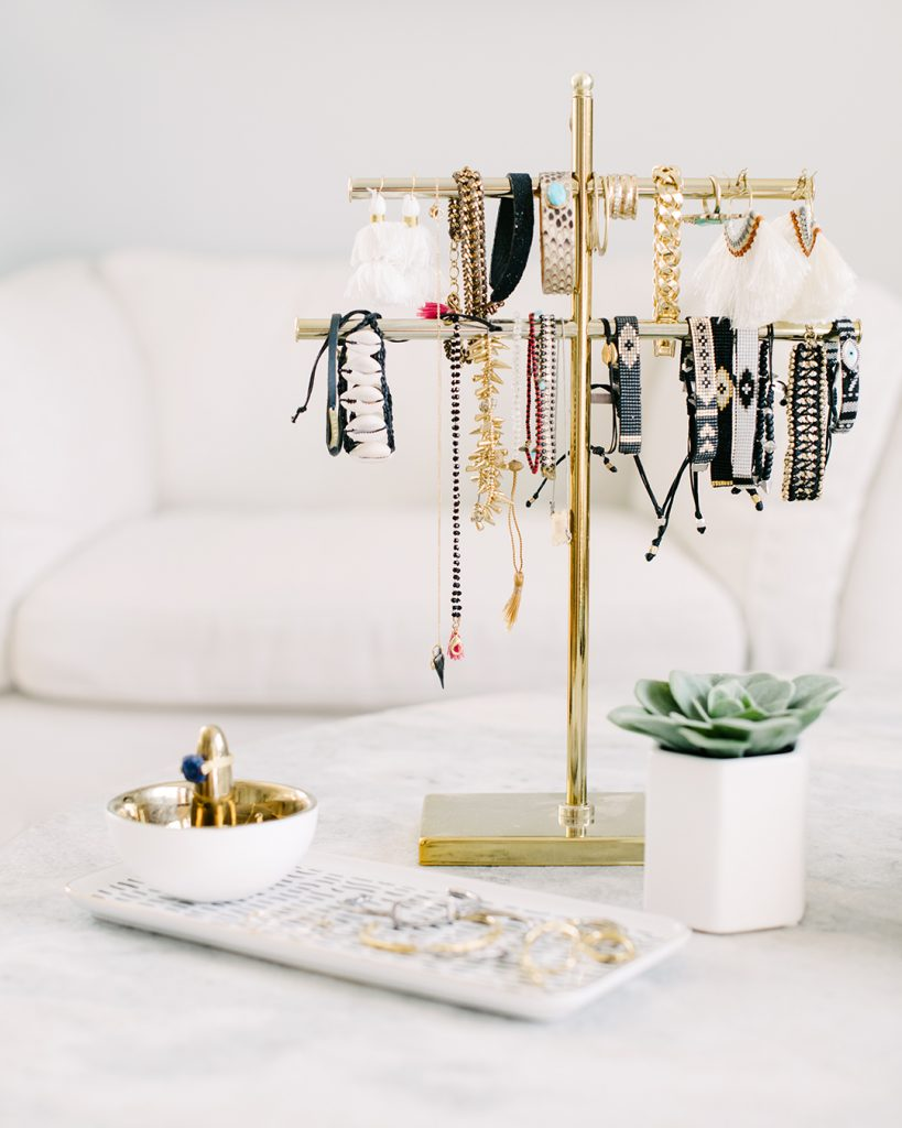 Tanya's accessories organized so neatly after taking the Virtual Closet Makeover Program.